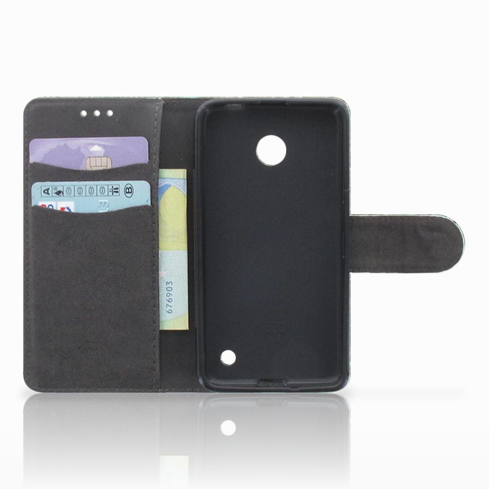 Nokia Lumia 630 Telefoonhoesje met Pasjes Pauw