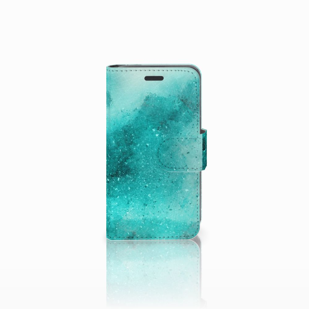 Nokia Lumia 520 Uniek Boekhoesje Painting Blue