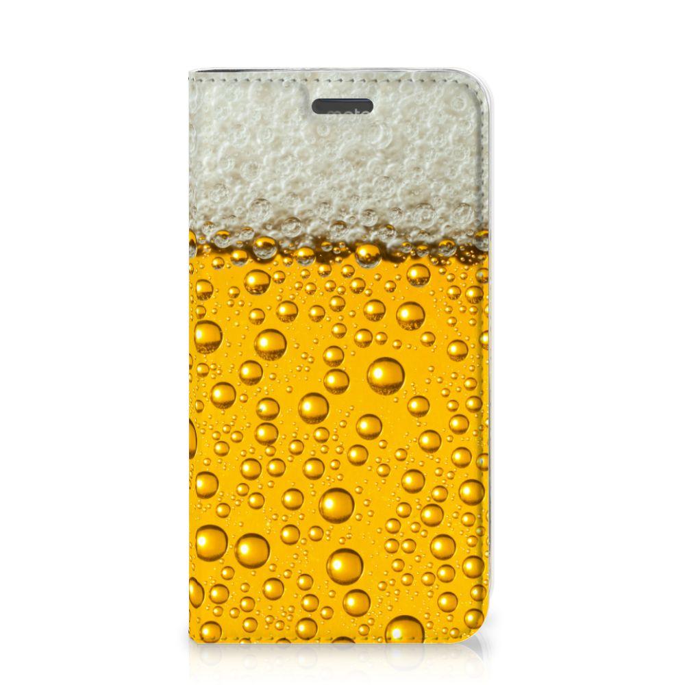 Motorola Moto C Plus Flip Style Cover Bier