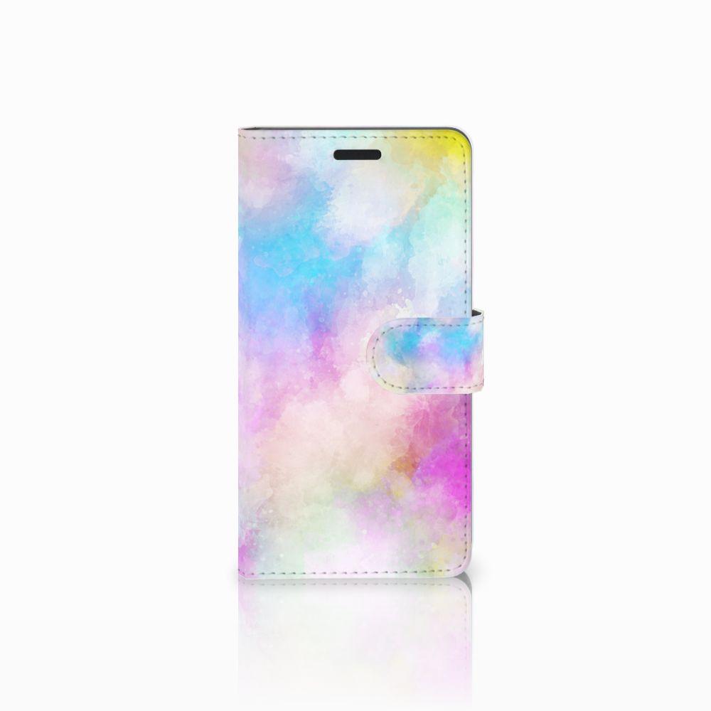 Samsung Galaxy A7 2015 Uniek Boekhoesje Watercolor Light
