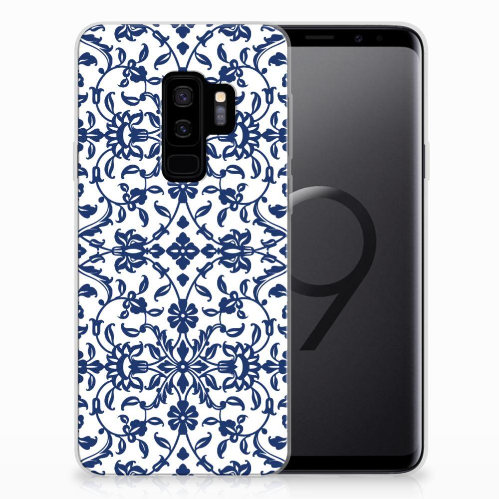 Samsung Galaxy S9 Plus TPU Case Flower Blue
