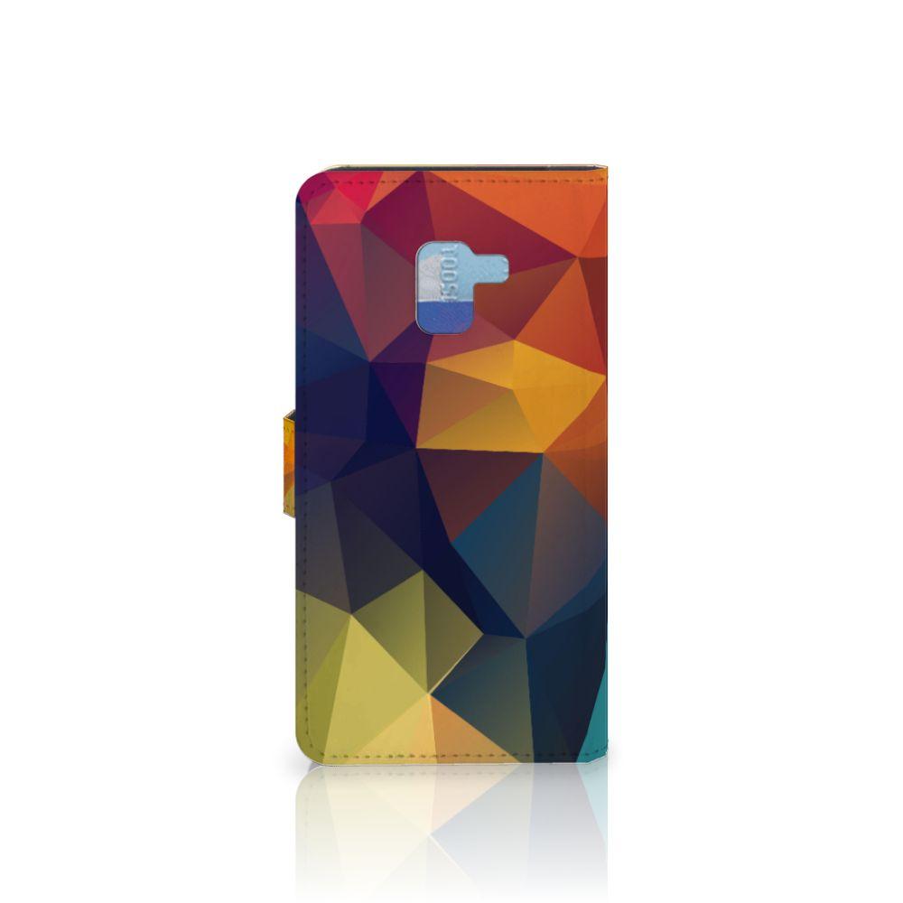 Samsung Galaxy A8 Plus (2018) Bookcase Polygon Color