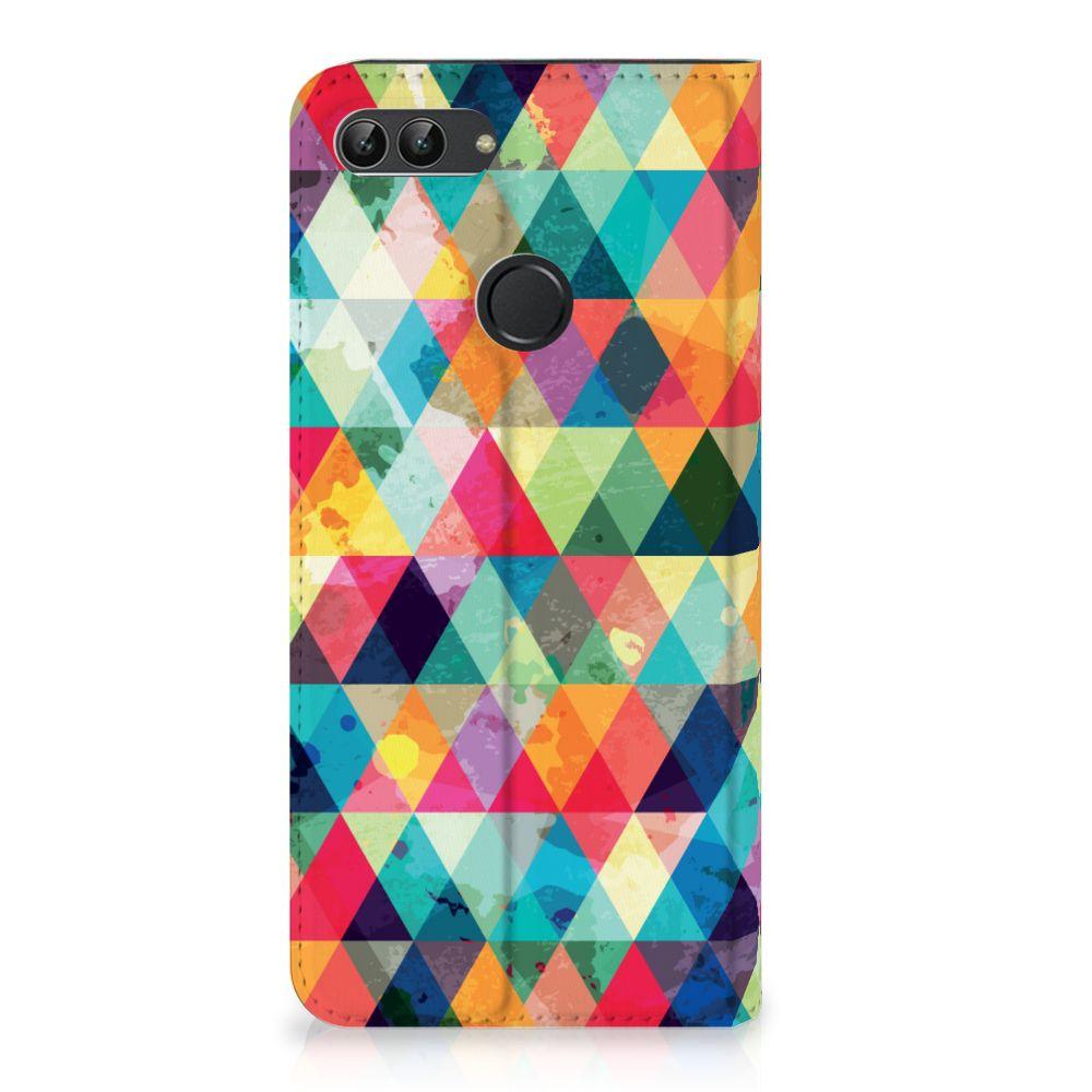 Huawei P Smart Uniek Standcase Hoesje Geruit