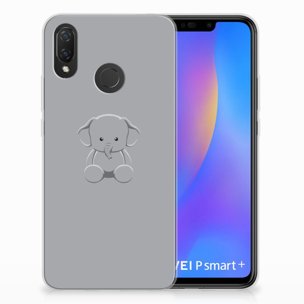 Huawei P Smart Plus Uniek TPU Hoesje Baby Olifant