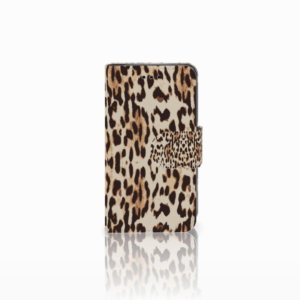 Samsung Galaxy Trend 2 Telefoonhoesje met Pasjes Leopard