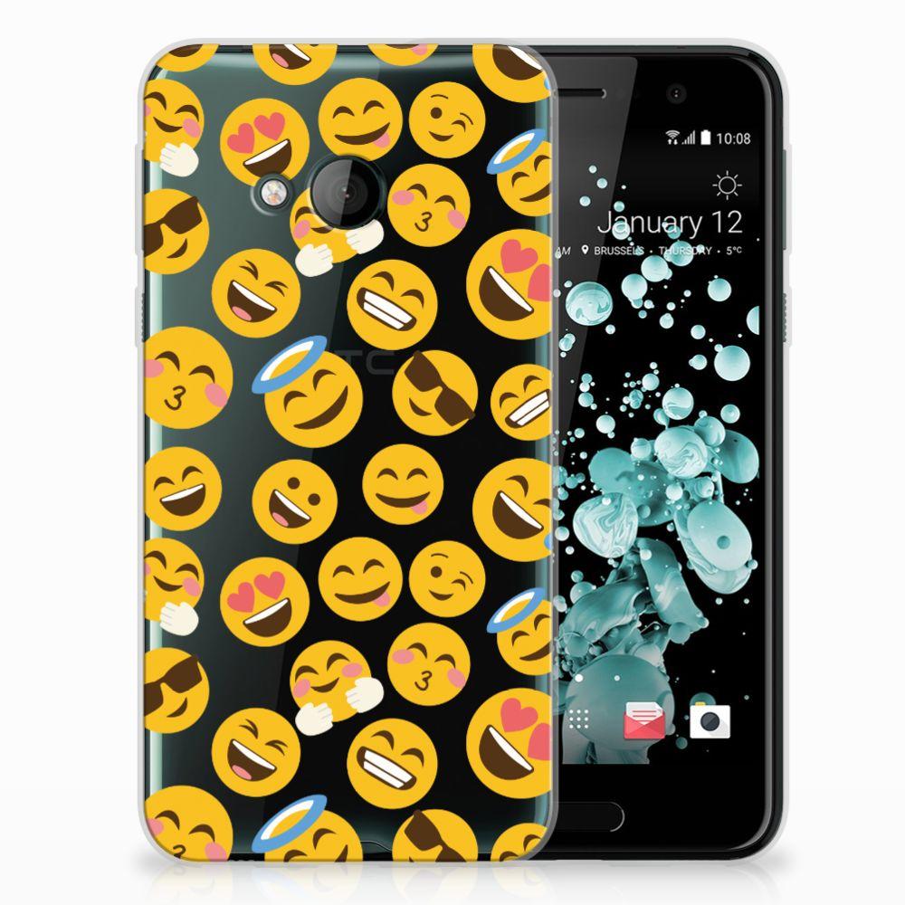 HTC U Play TPU Hoesje Design Emoji