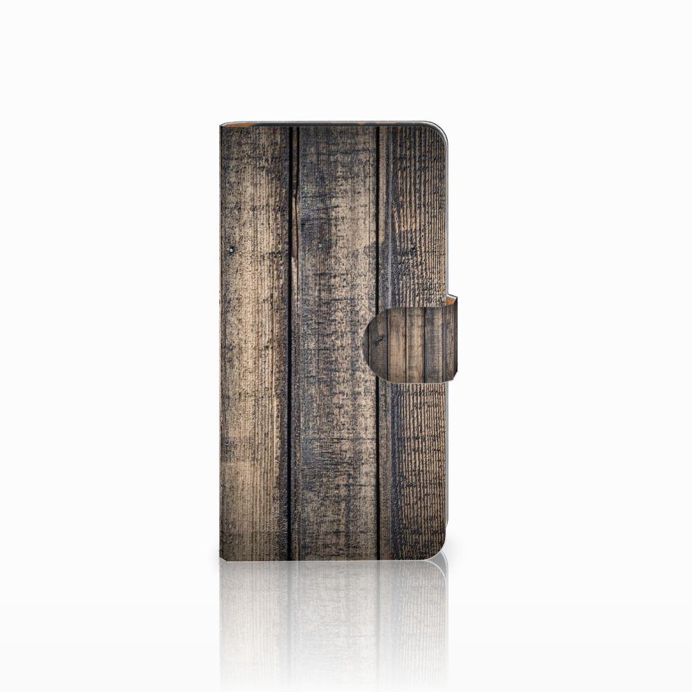 Wiko Lenny 3 Boekhoesje Design Steigerhout
