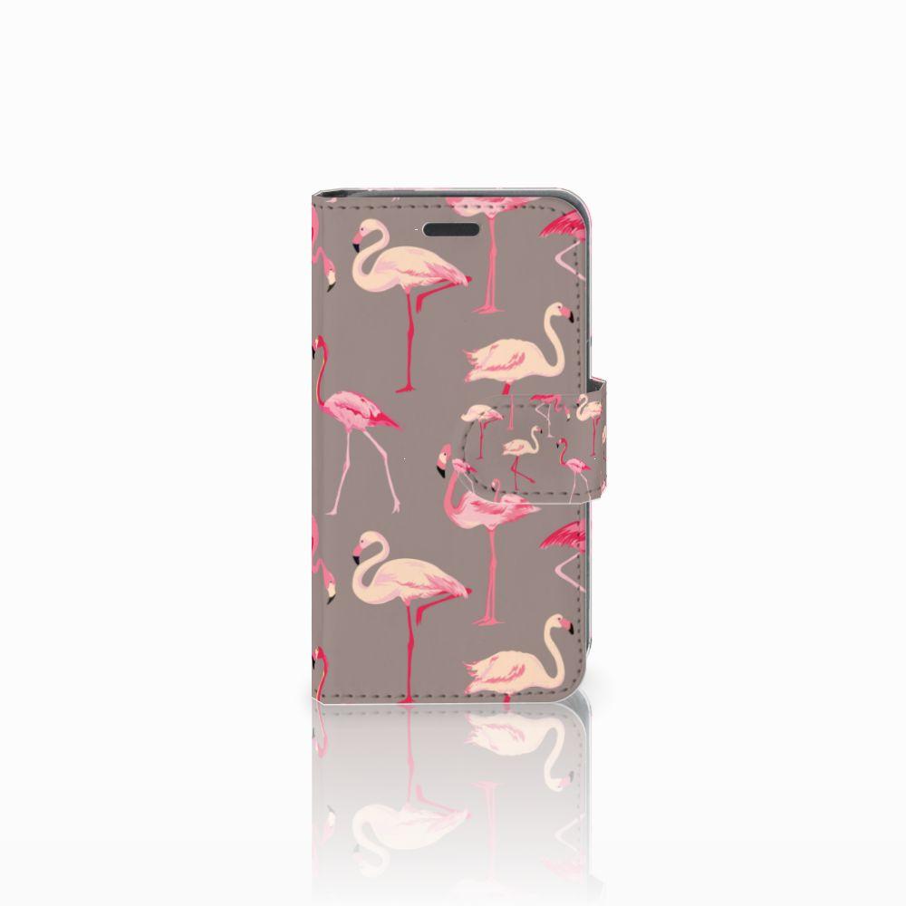 Nokia Lumia 520 Uniek Boekhoesje Flamingo