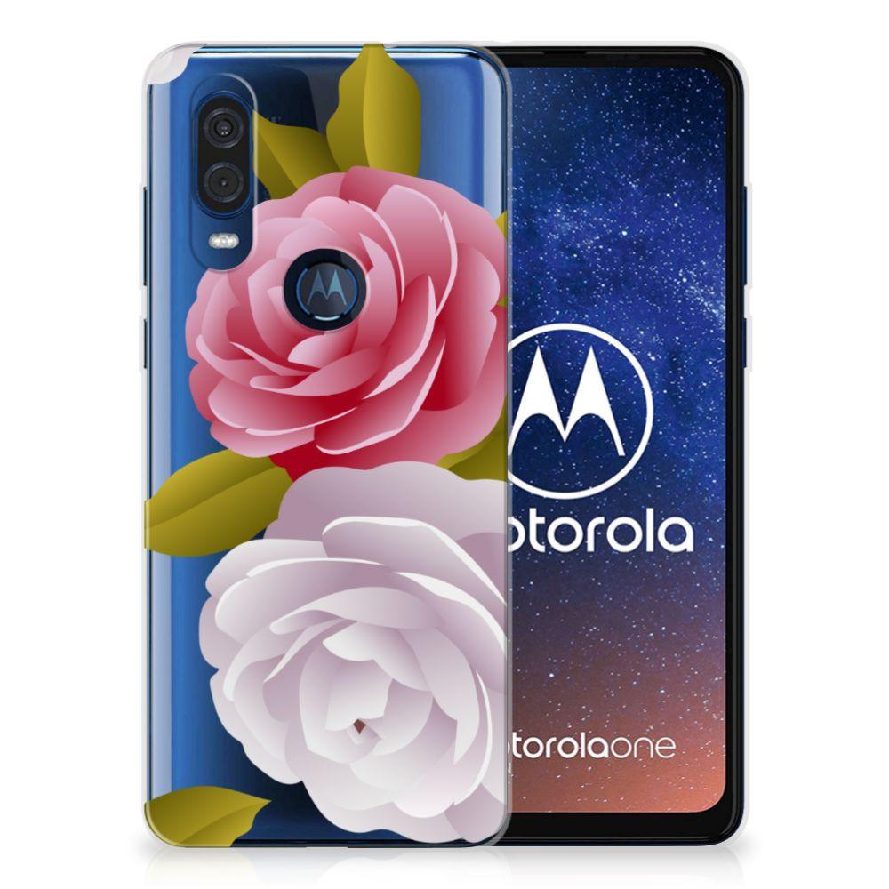 Motorola One Vision TPU Case Roses