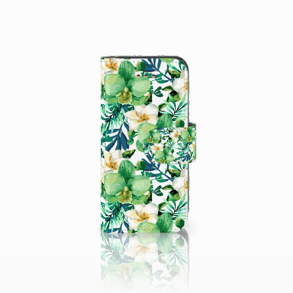 Apple iPhone 5C Uniek Boekhoesje Orchidee Groen