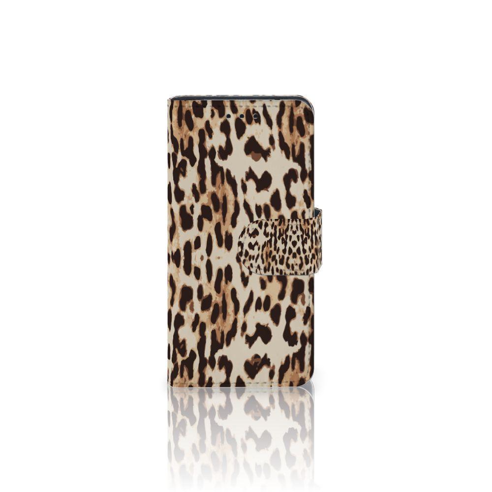 Samsung Galaxy S5 Mini Uniek Boekhoesje Leopard