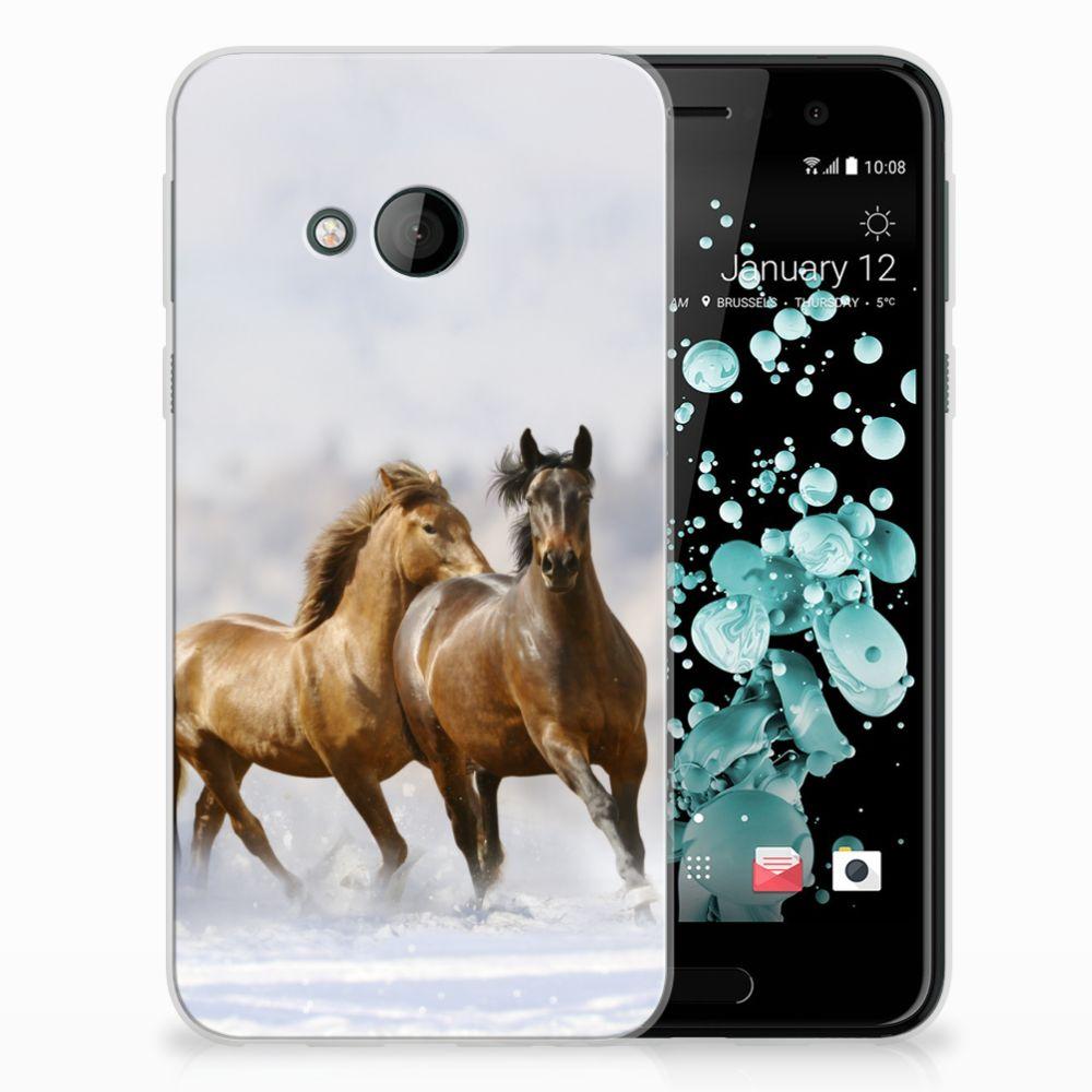 HTC U Play TPU Hoesje Paarden