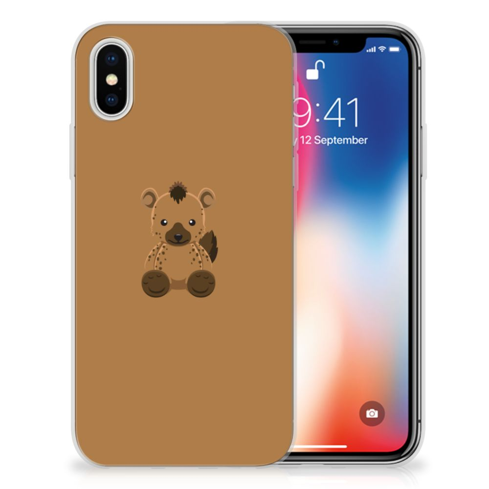 Apple iPhone X   Xs Uniek TPU Hoesje Baby Hyena