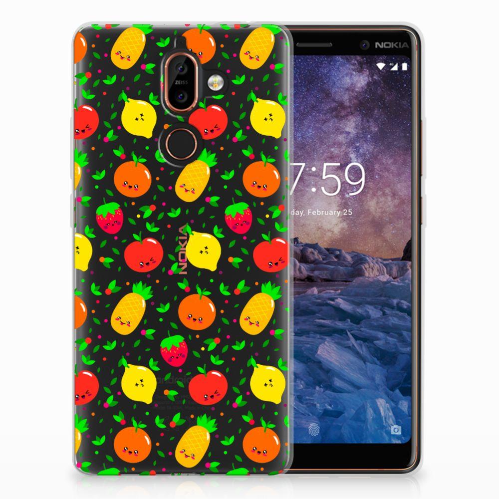Nokia 7 Plus Siliconen Case Fruits