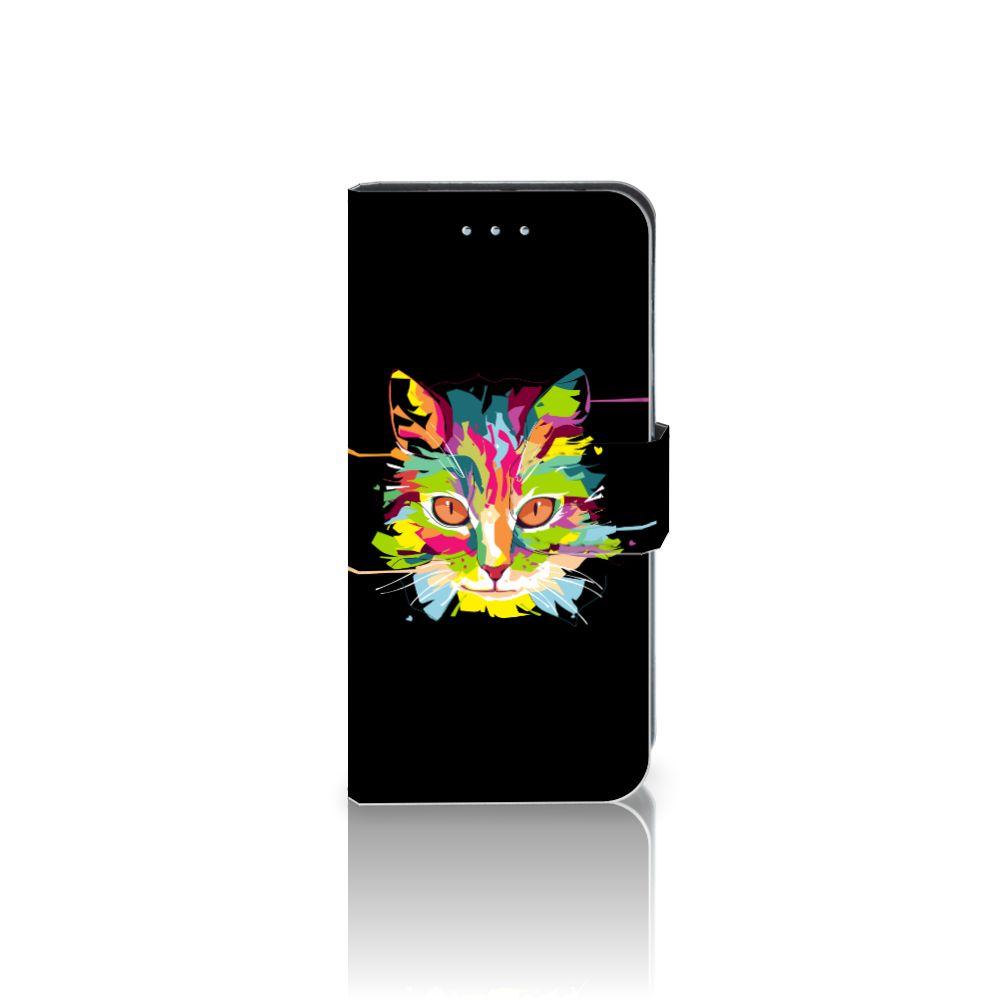 Samsung Galaxy S6 Edge Uniek Boekhoesje Cat Color