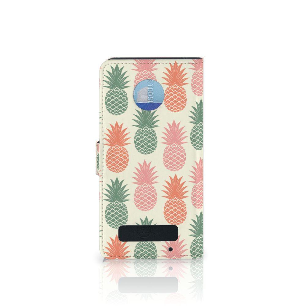 Motorola Moto Z Play Book Cover Ananas