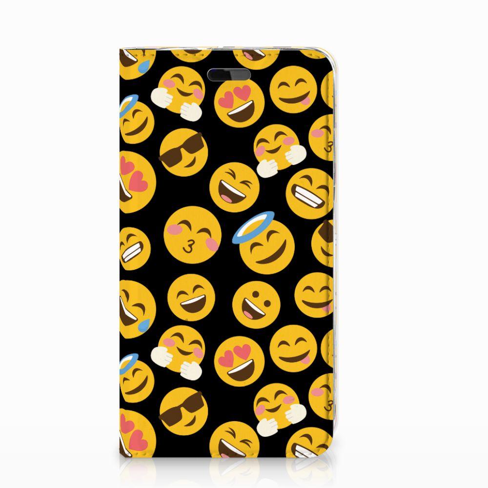 Huawei Y5   Y6 2017 Hoesje met Magneet Emoji