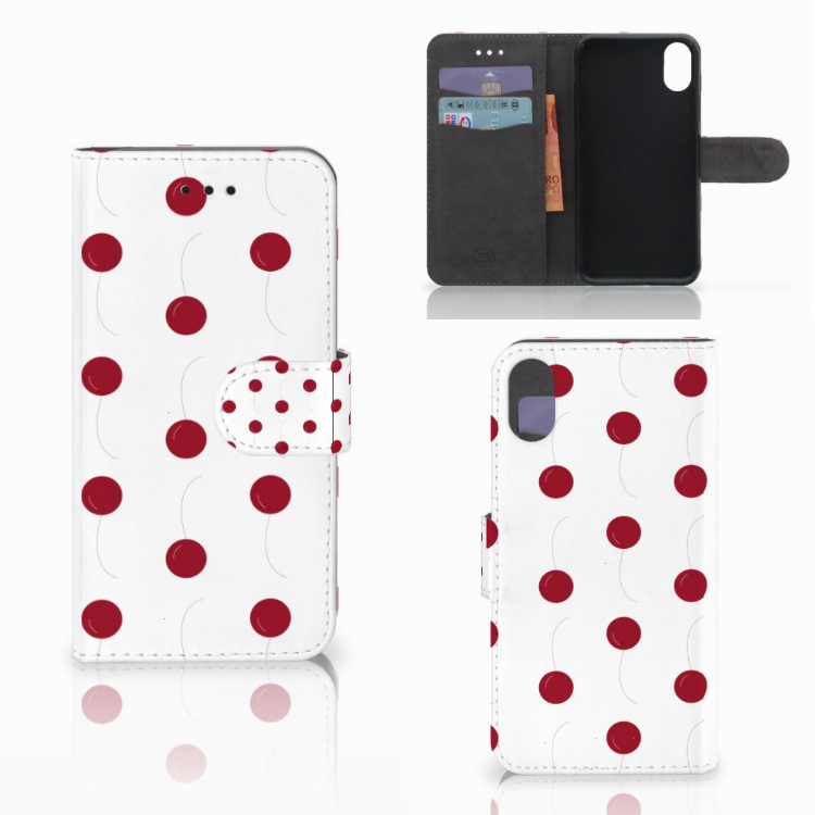 Apple iPhone X | Xs Book Cover Cherries