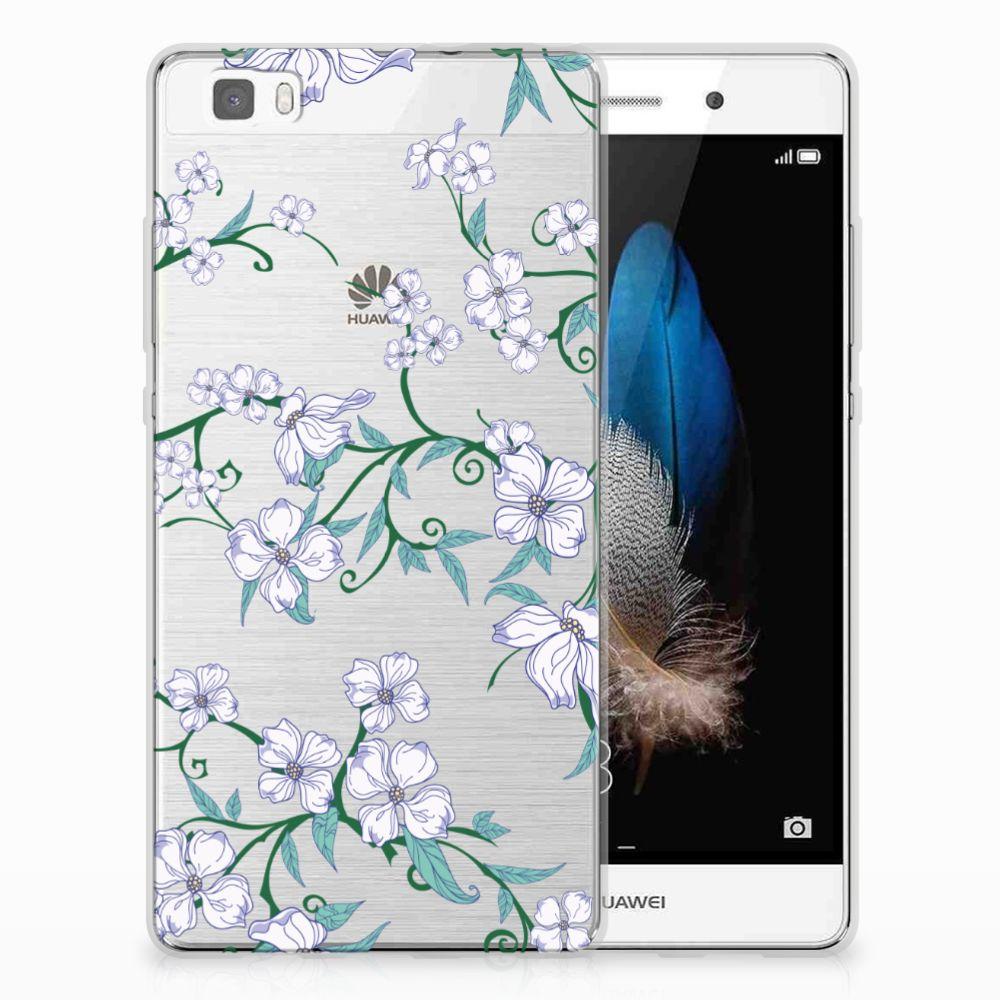 Huawei Ascend P8 Lite Uniek TPU Hoesje Blossom White