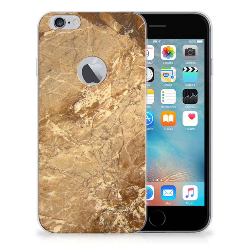 Apple iPhone 6 Plus | 6s Plus TPU Siliconen Hoesje Marmer Creme