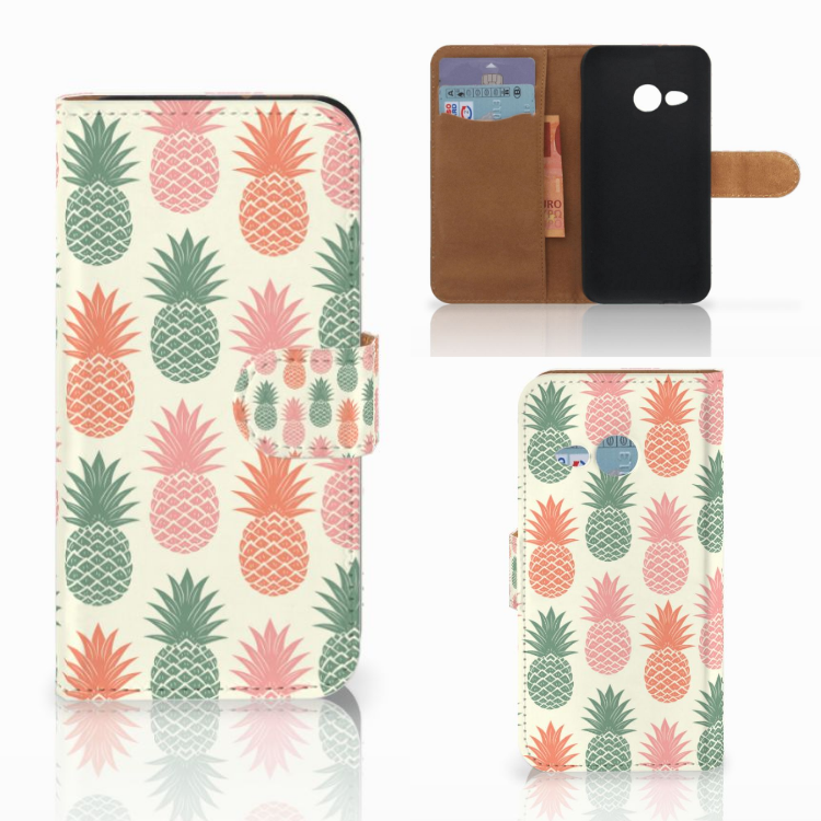 HTC One Mini 2 Book Cover Ananas