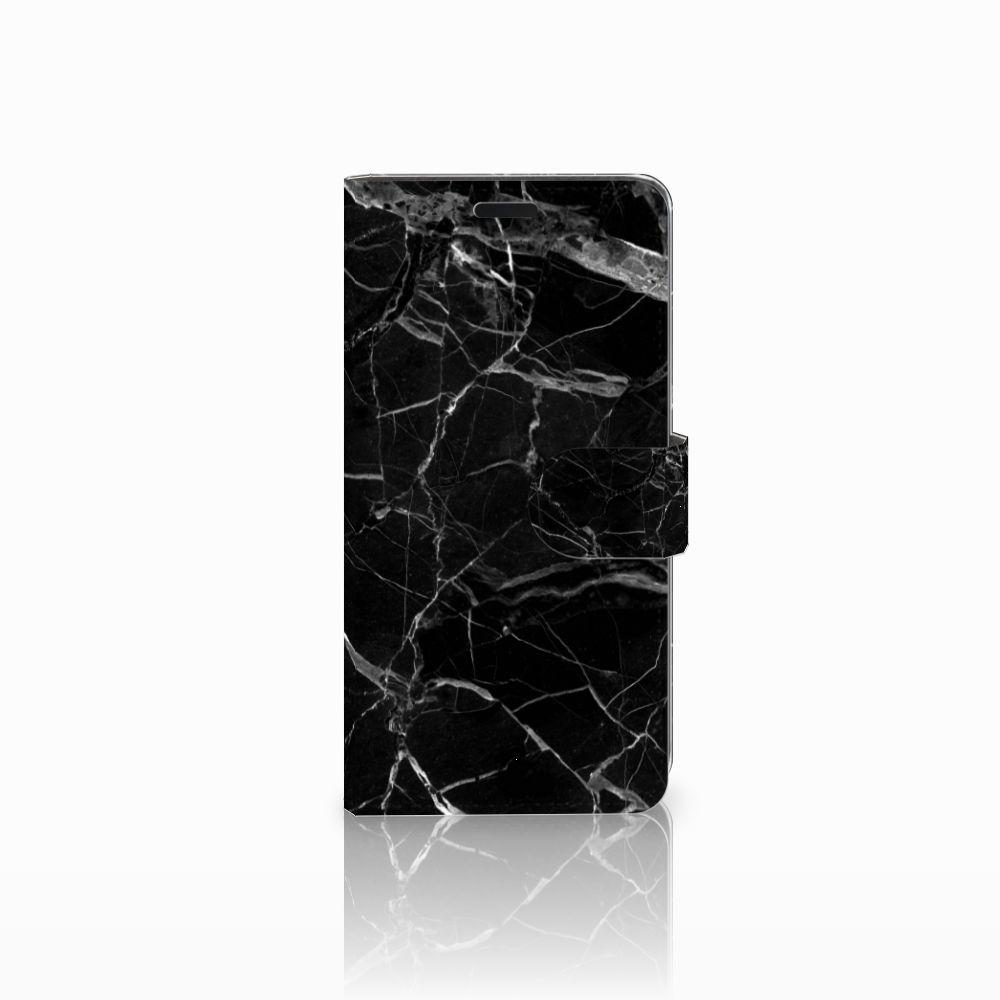 HTC Desire 530 Uniek Boekhoesje Marmer Zwart