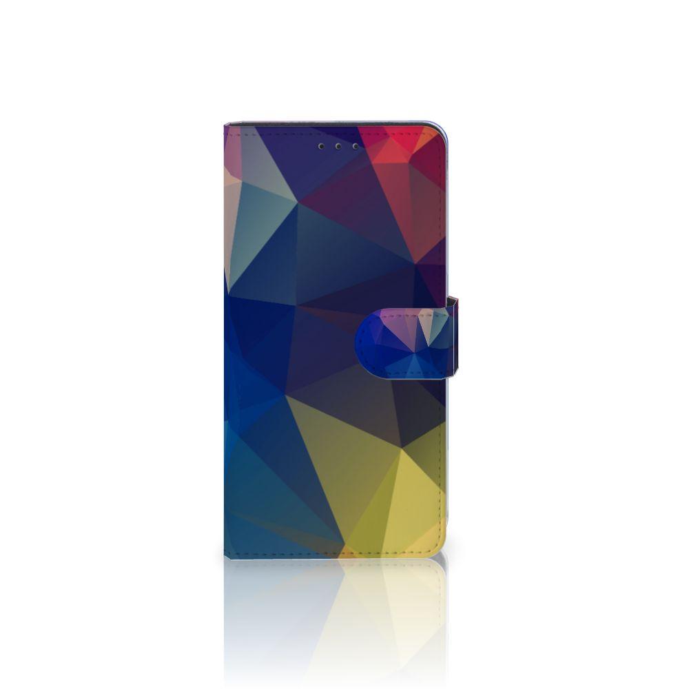 Samsung Galaxy A7 (2018) Uniek Boekhoesje Polygon Dark