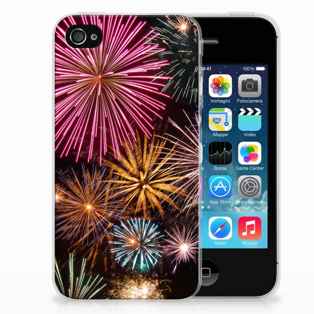 Apple iPhone 4   4s Silicone Back Cover Vuurwerk