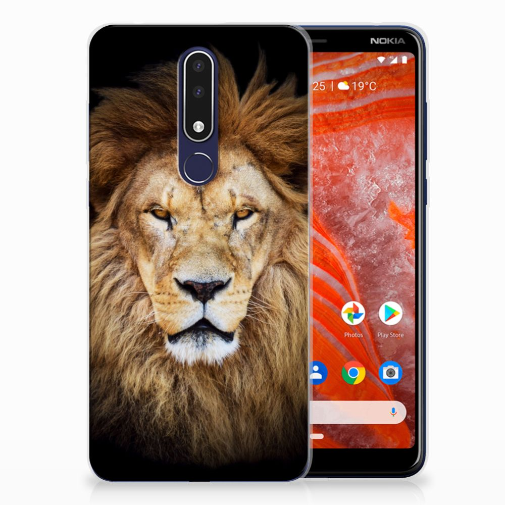 Nokia 3.1 Plus TPU Hoesje Design Leeuw