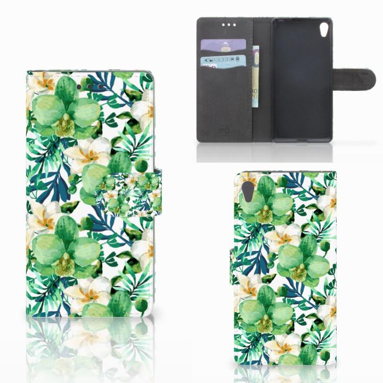 Sony Xperia E5 Hoesje Orchidee Groen