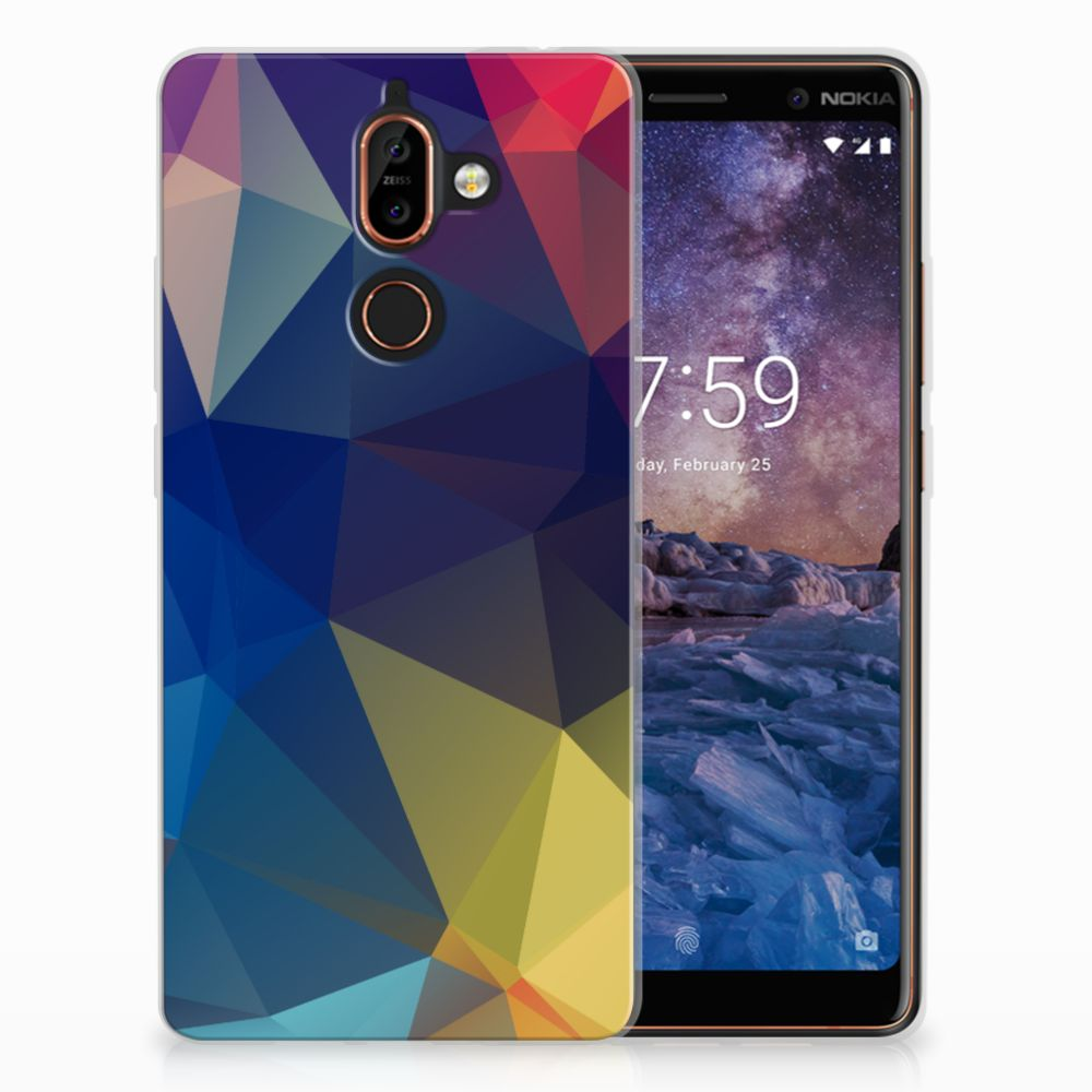 Nokia 7 Plus TPU Hoesje Polygon Dark