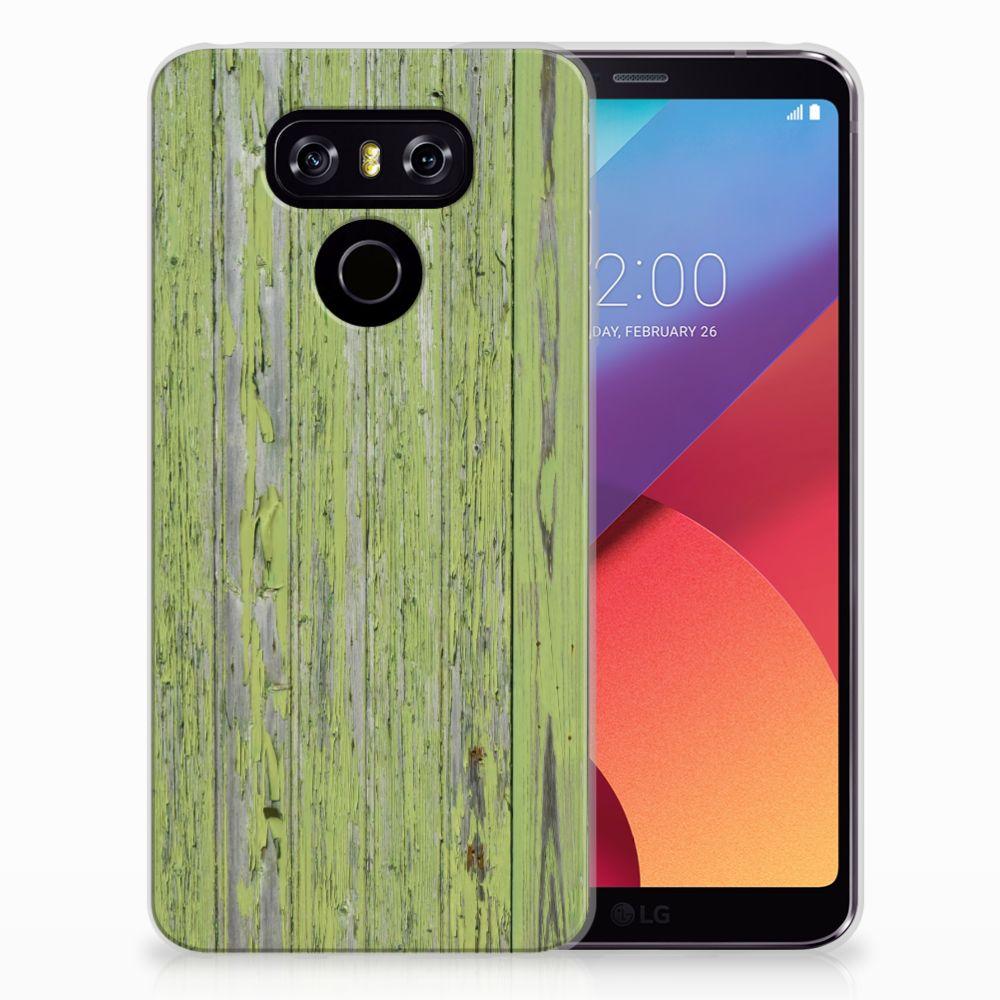 LG G6 TPU Hoesje Design Green Wood