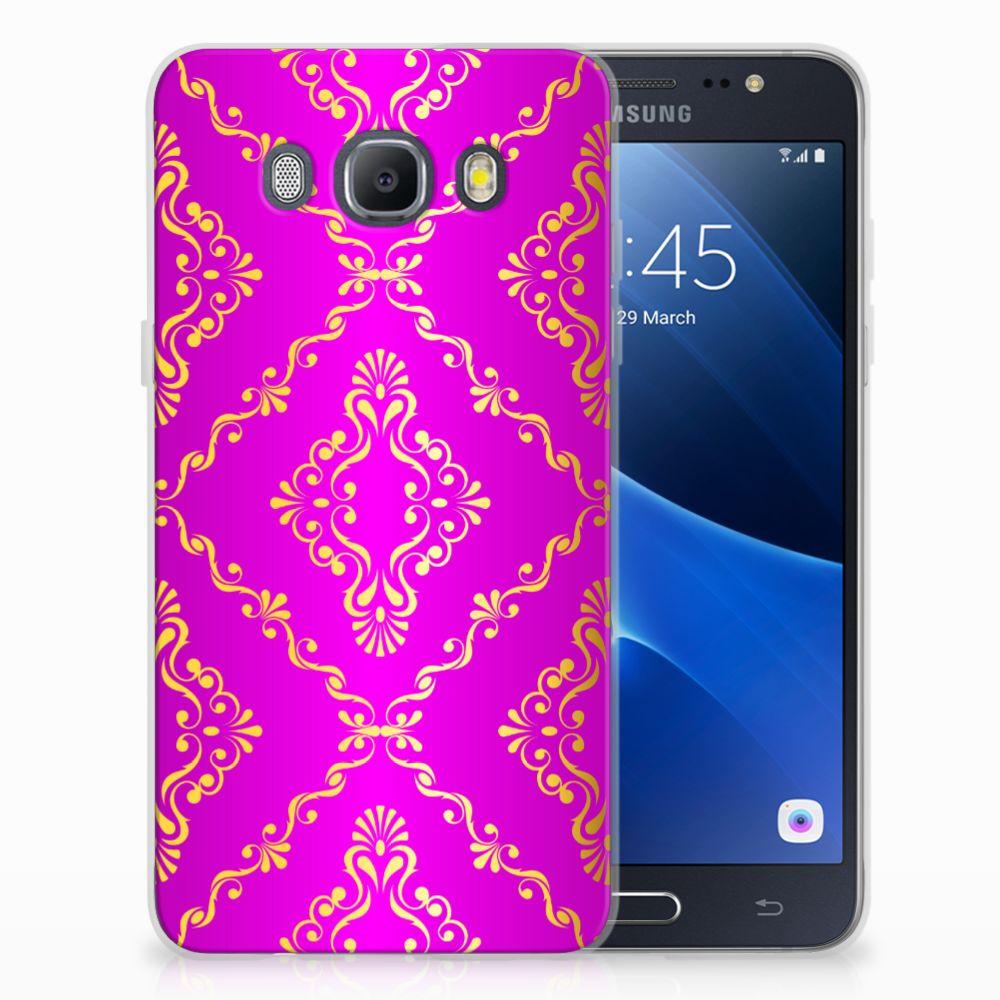 Siliconen Hoesje Samsung Galaxy J5 2016 Barok Roze