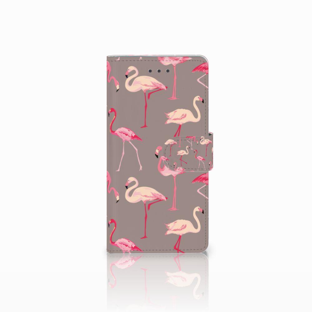 Huawei Ascend P8 Uniek Boekhoesje Flamingo