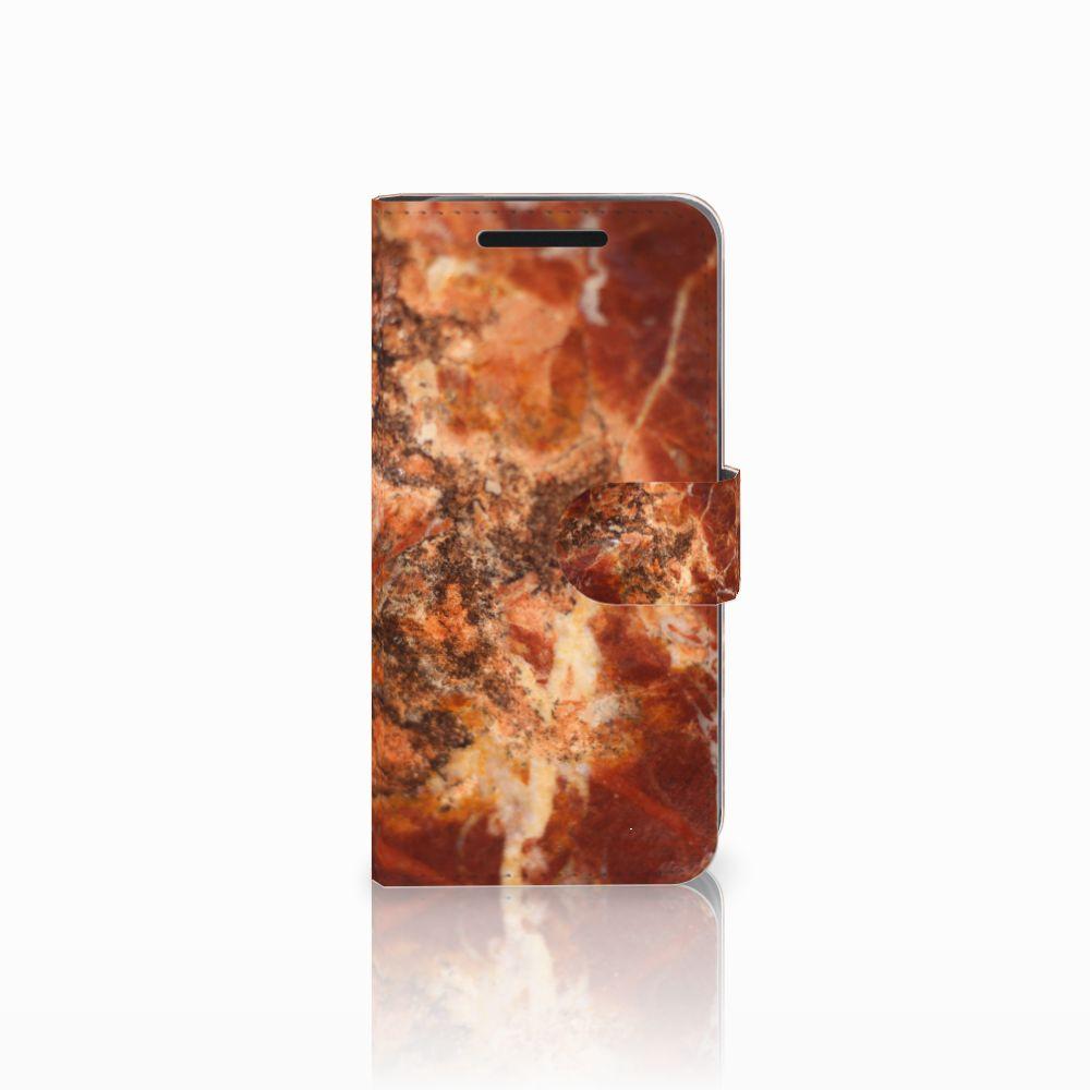 HTC One M9 Bookcase Marmer Bruin
