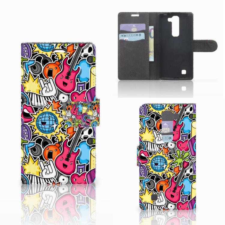 LG Magna | G4C Wallet Case met Pasjes Punk Rock
