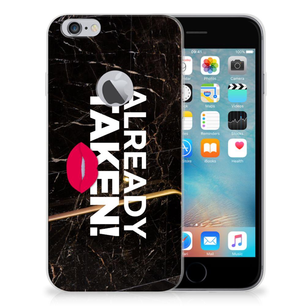 Apple iPhone 6 Plus | 6s Plus Siliconen hoesje met naam Already Taken Black