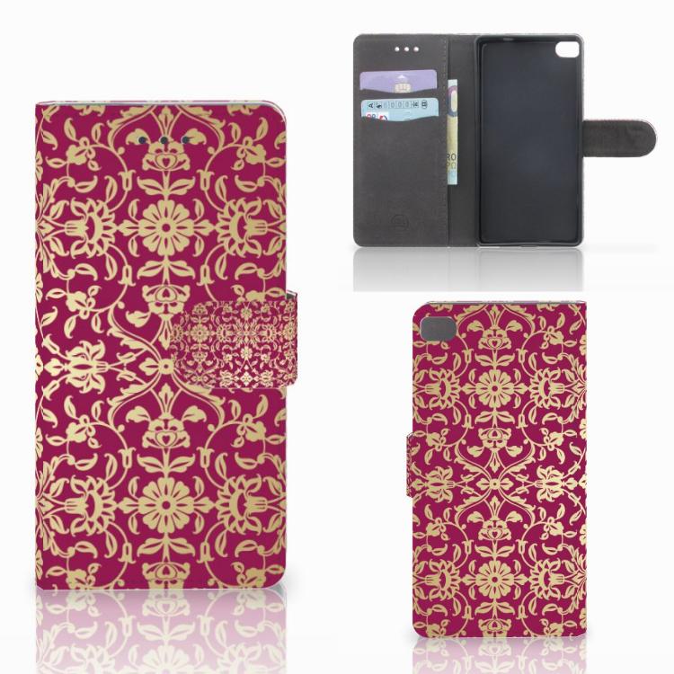 Wallet Case Huawei P8 Barok Pink
