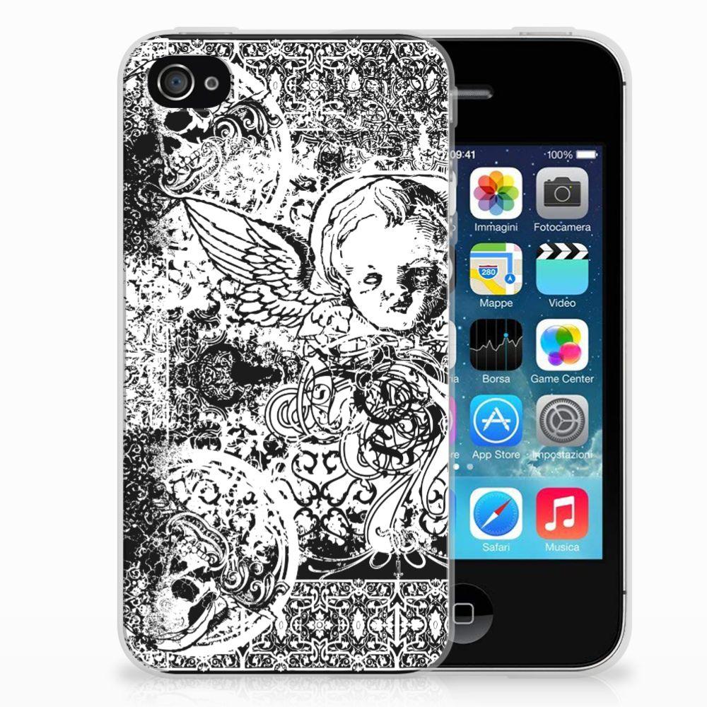 Silicone Back Case Apple iPhone 4 | 4s Skulls Angel