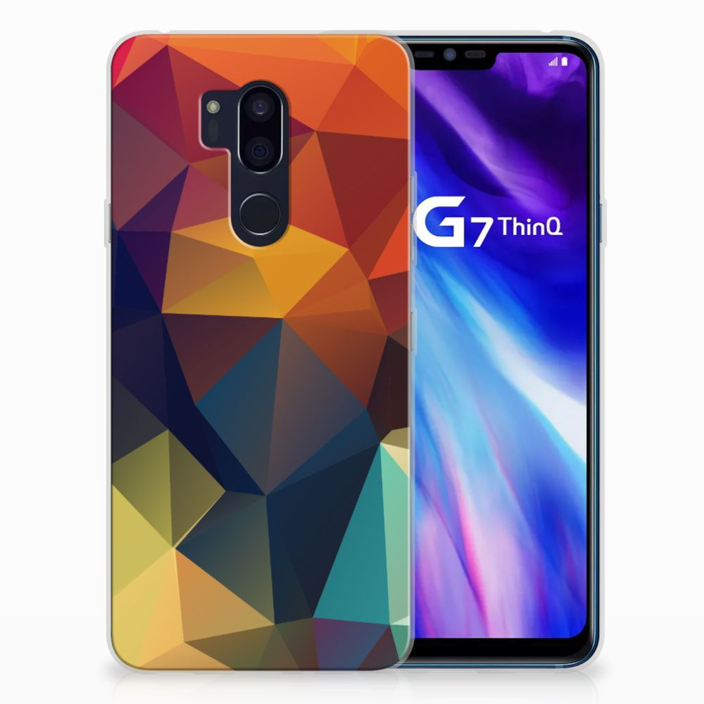LG G7 Thinq TPU Hoesje Polygon Color