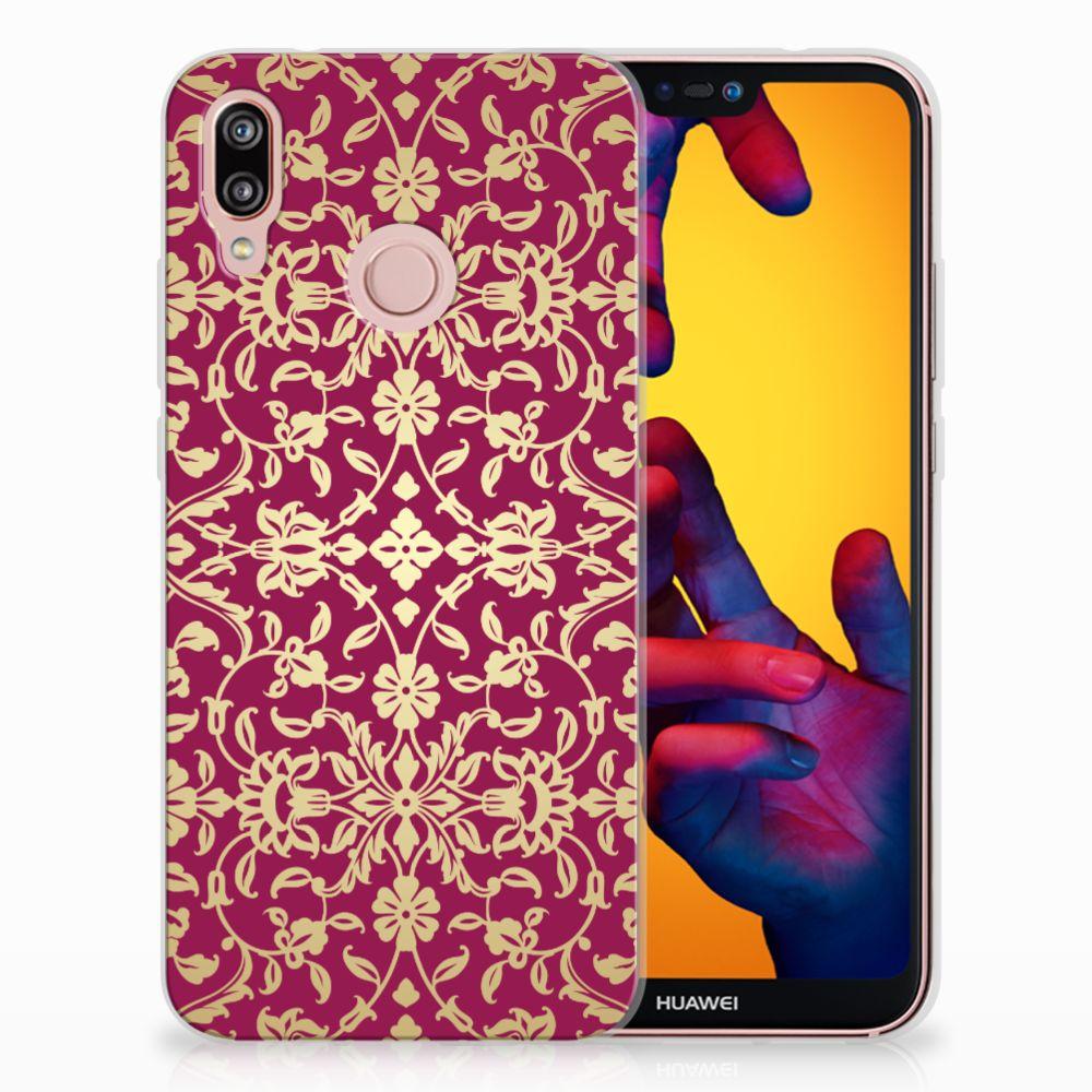 Huawei P20 Lite TPU Hoesje Design Barok Pink