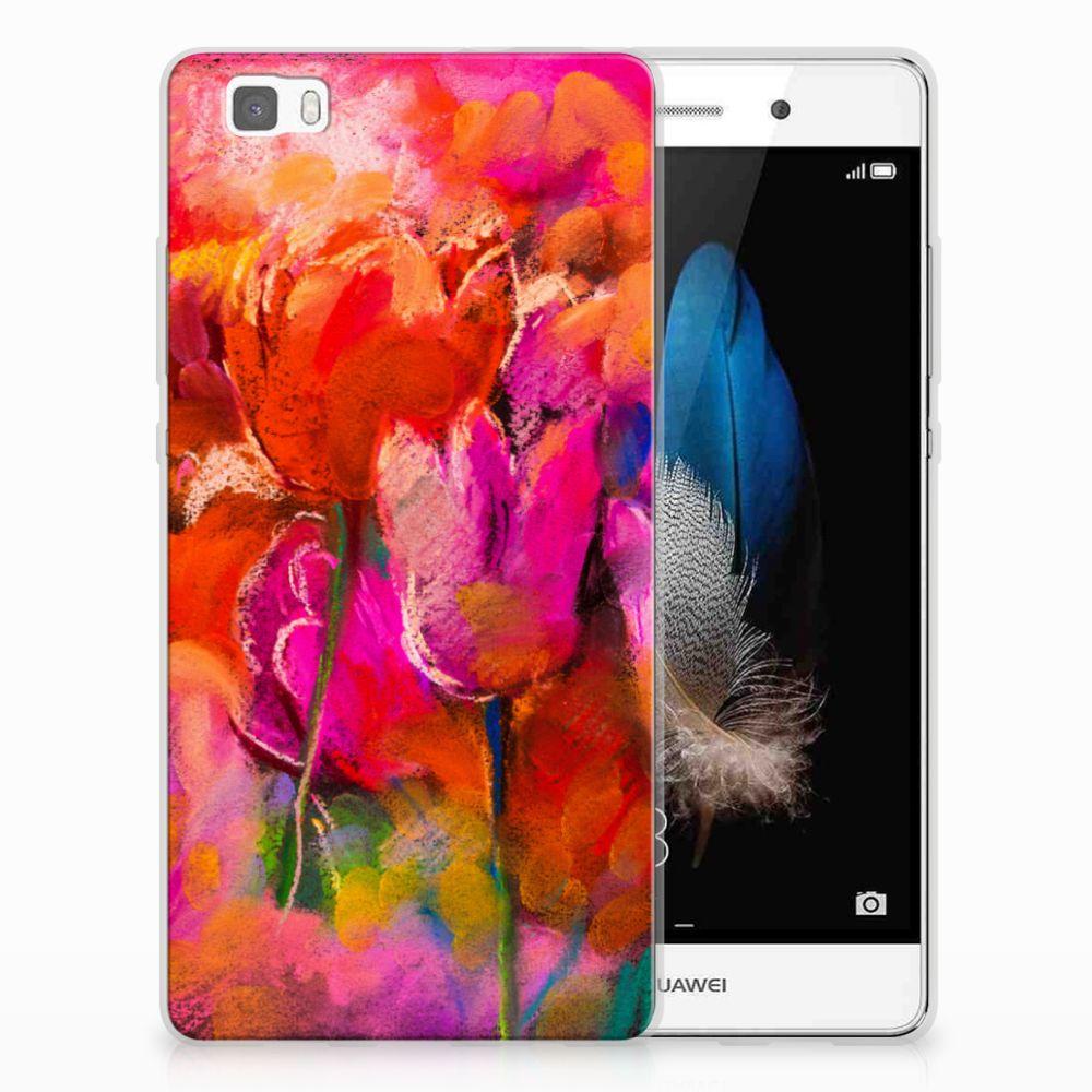 Huawei Ascend P8 Lite TPU Hoesje Design Tulips