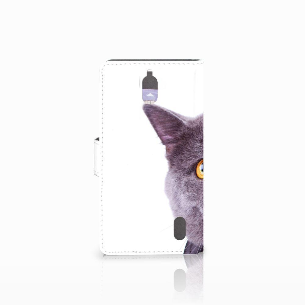 Huawei Y625 Telefoonhoesje met Pasjes Kat