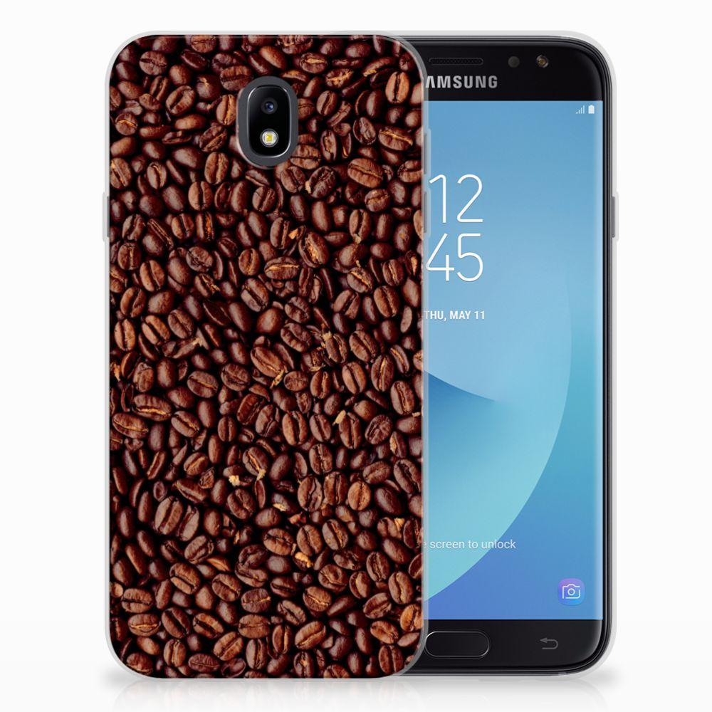 Samsung Galaxy J7 2017 | J7 Pro Siliconen Case Koffiebonen