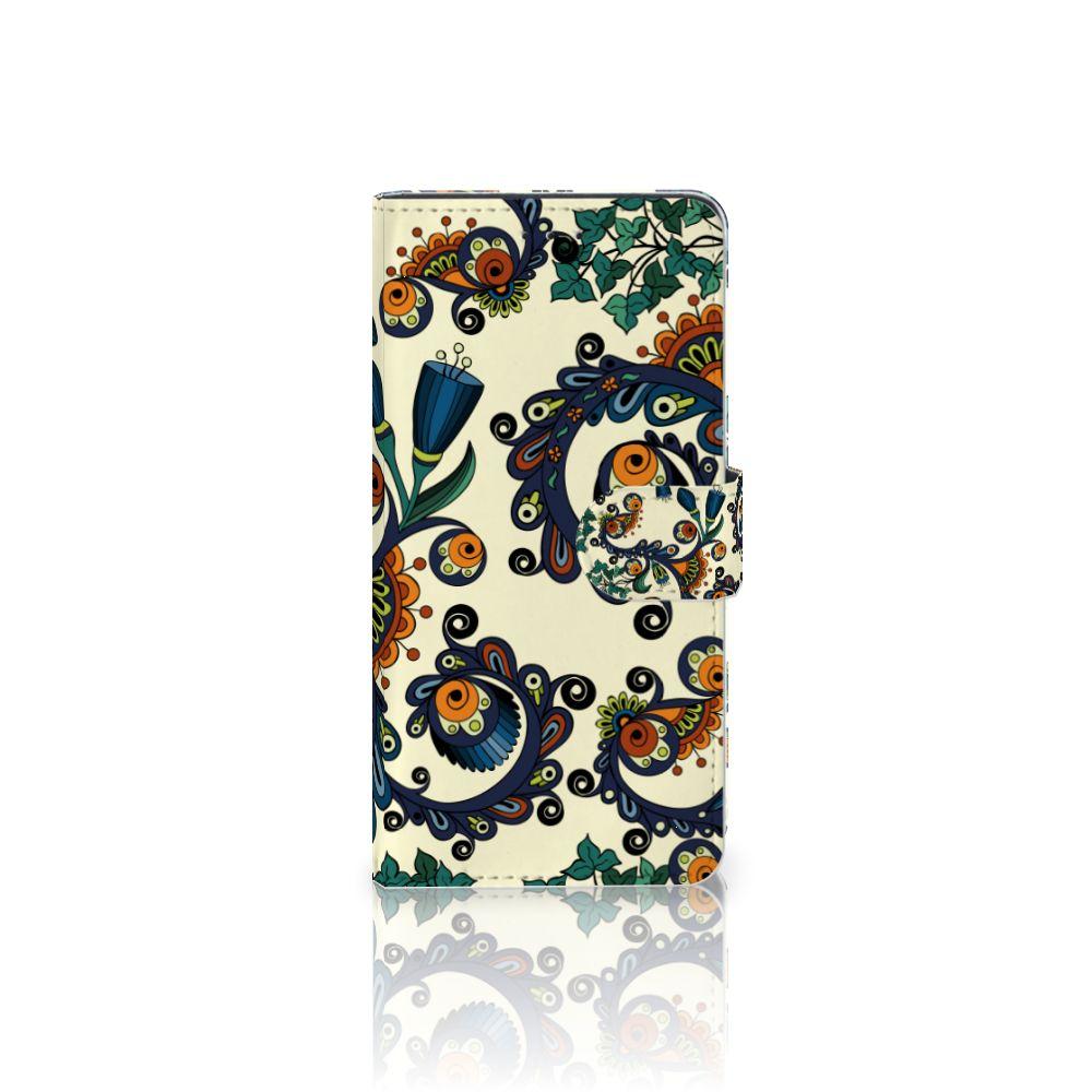 Motorola Moto Z2 Play Boekhoesje Design Barok Flower