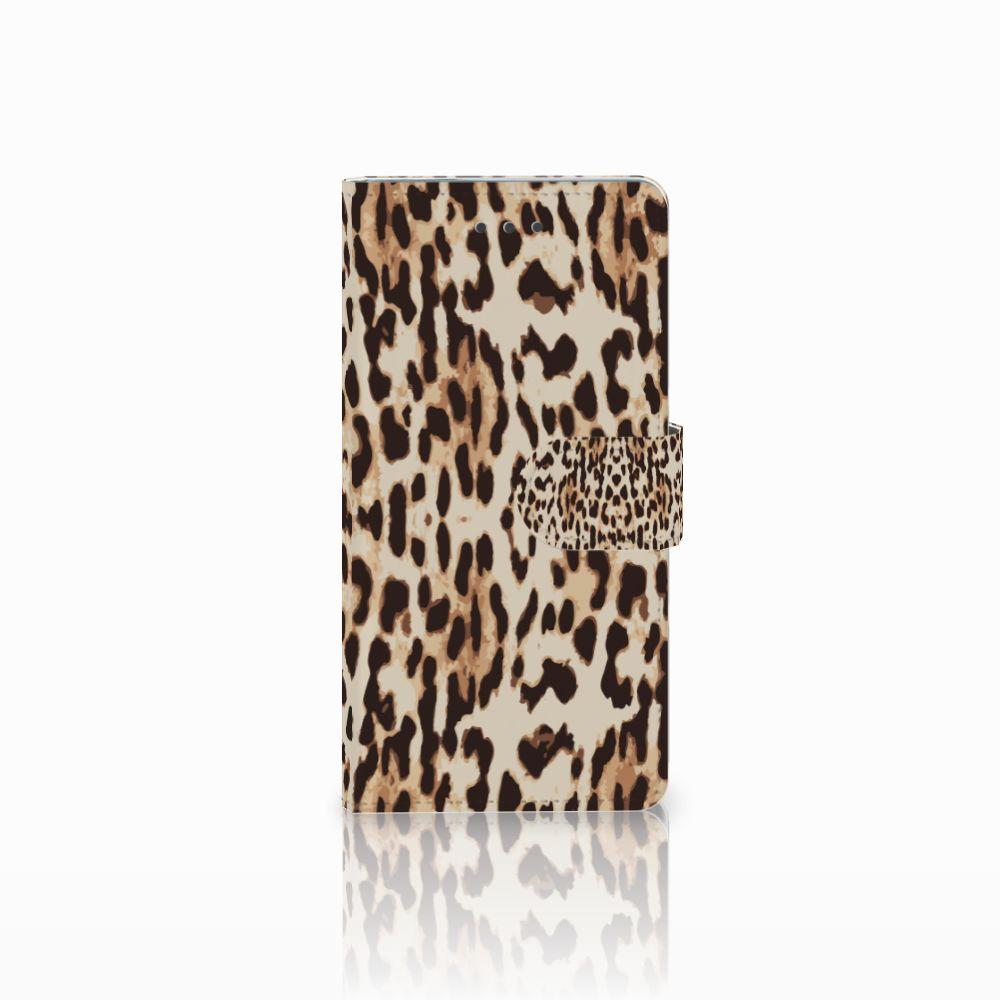 Huawei Ascend P8 Uniek Boekhoesje Leopard