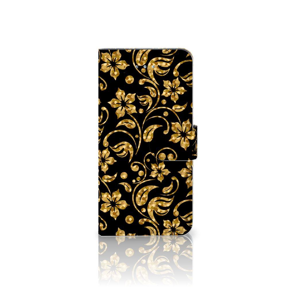 Honor 4A | Y6 Boekhoesje Design Gouden Bloemen