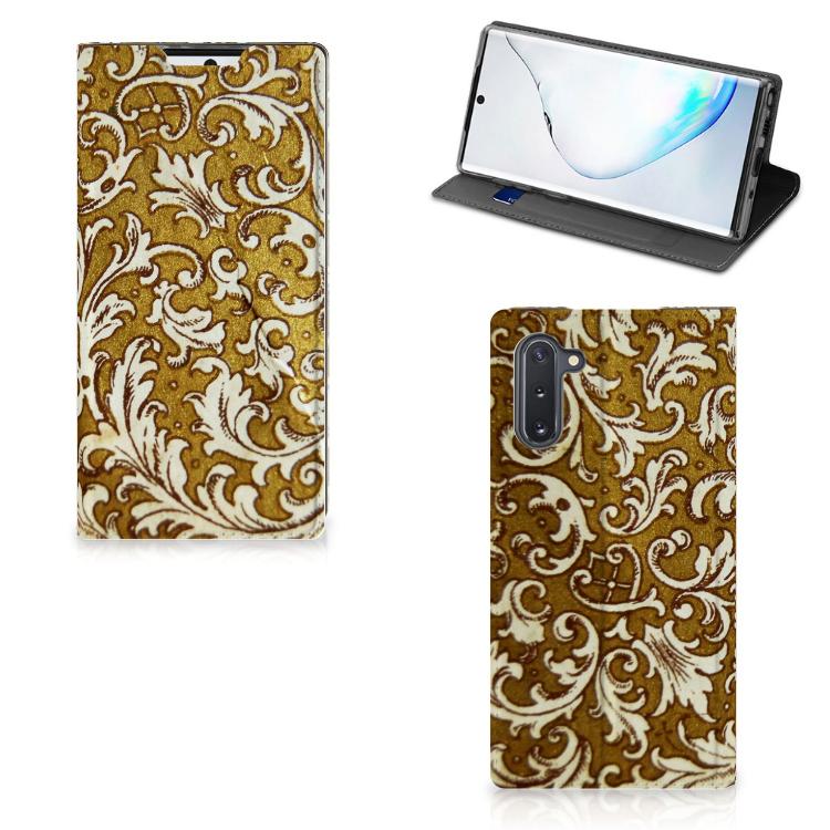 Telefoon Hoesje Samsung Galaxy Note 10 Barok Goud