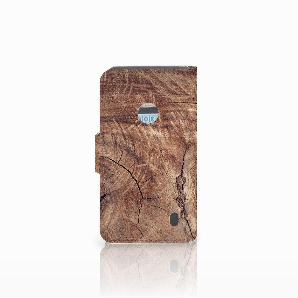 Nokia Lumia 520 Book Style Case Tree Trunk