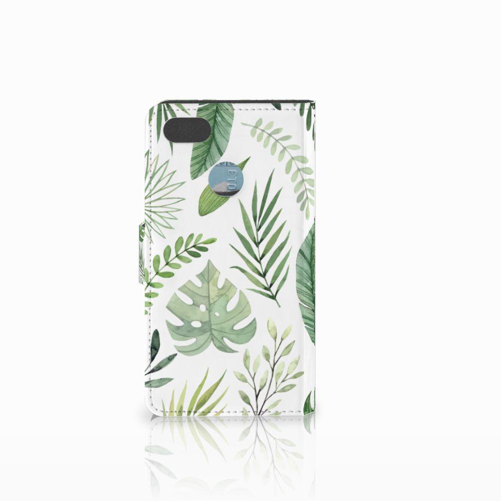 Huawei Y6 Pro 2017 Hoesje Leaves